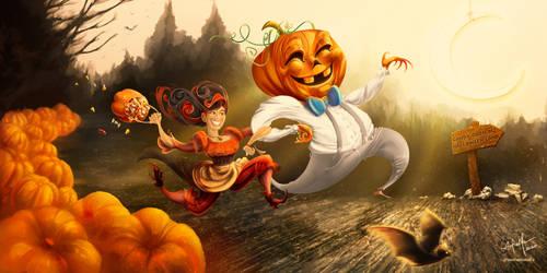 Digital Illustration - Halloween gift art