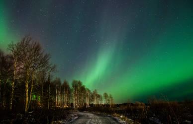 Aurora borealis by FinJambo