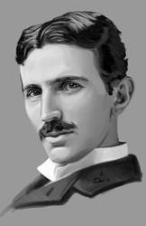 Nikola Tesla by AdrianosArt