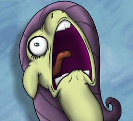Screaming Fluttershy from the Scare master