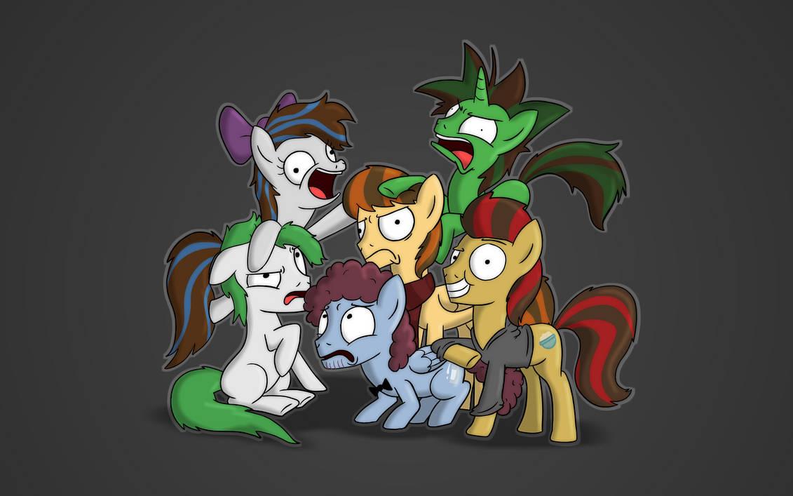 A Wallpaper of Pony OCs by PiemationsArt