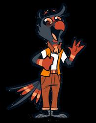 nerd bird by PiemationsArt