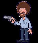 Bob Ross but with a gun