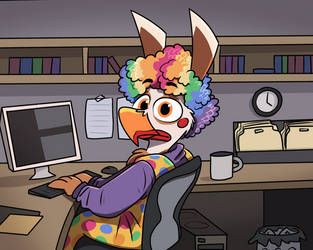 how i look drawing nothing except my own sona by PiemationsArt