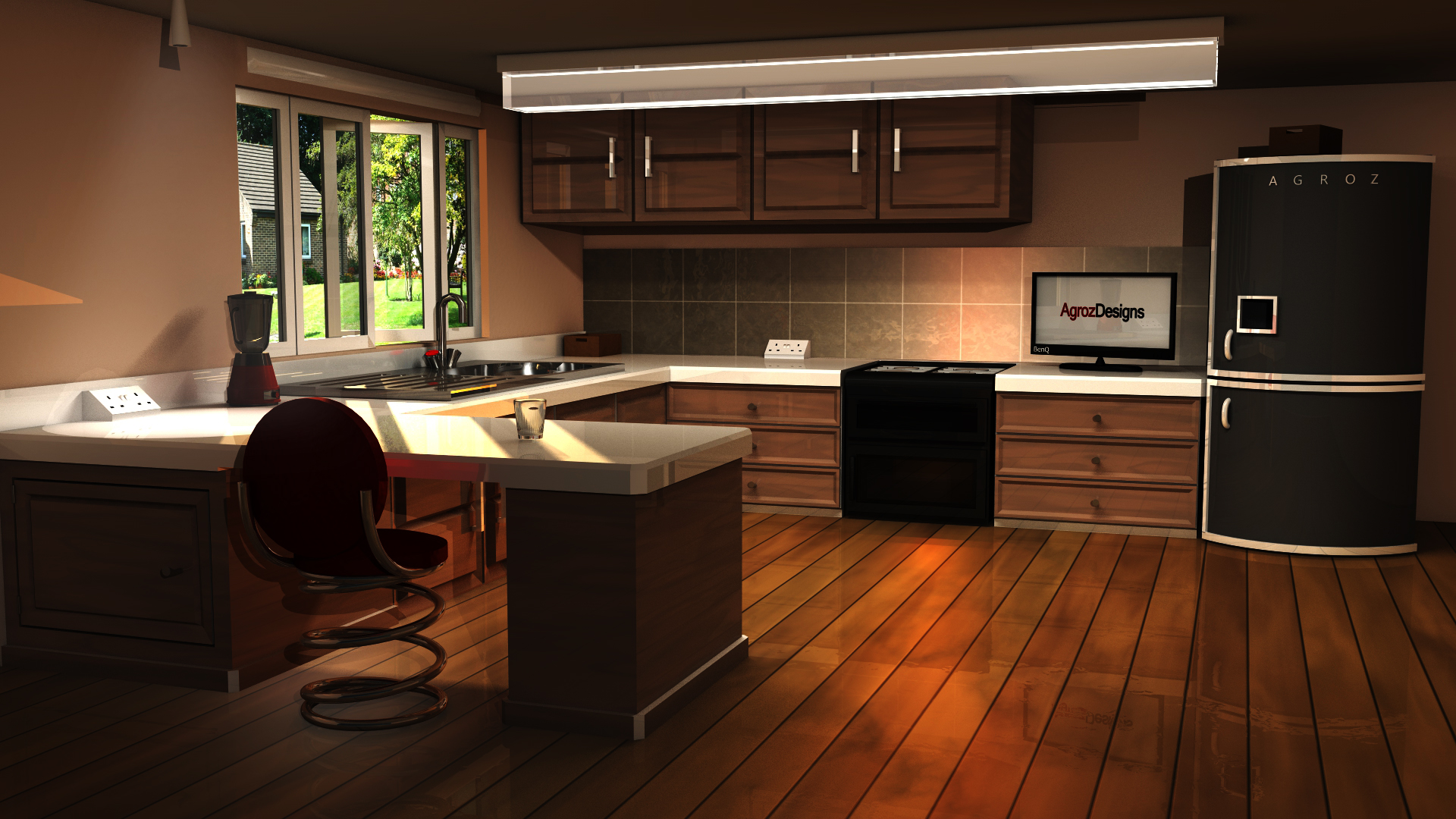 Updated Kitchen Vray By Agrozdesigns On Deviantart