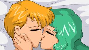 Haruka and Michiru's Kiss