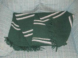 Commission - Slytherin Scarf Finished