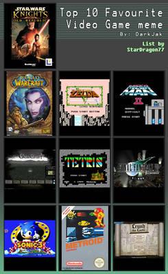 Top Ten Video Games Meme