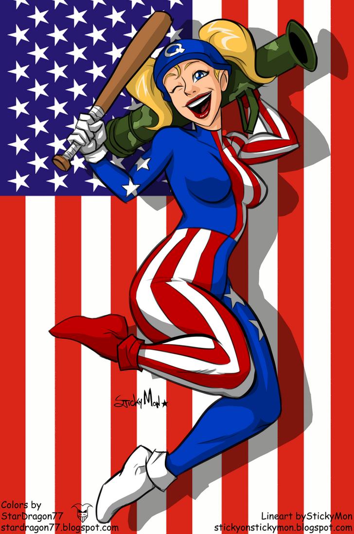 Amalgam Comics - Ameri Quinn by StarDragon77