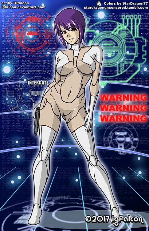 IGFalcon - Motoko Kusanagi Colored Version 2