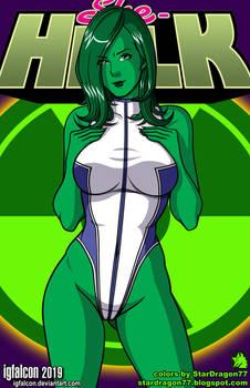 IGFalcon - She Hulk Colored PNG