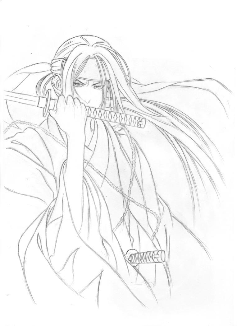 Coloring Pages Hakuouki Sketch Coloring Page