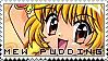 Mew Pudding Stamp by lovenotwarcraft
