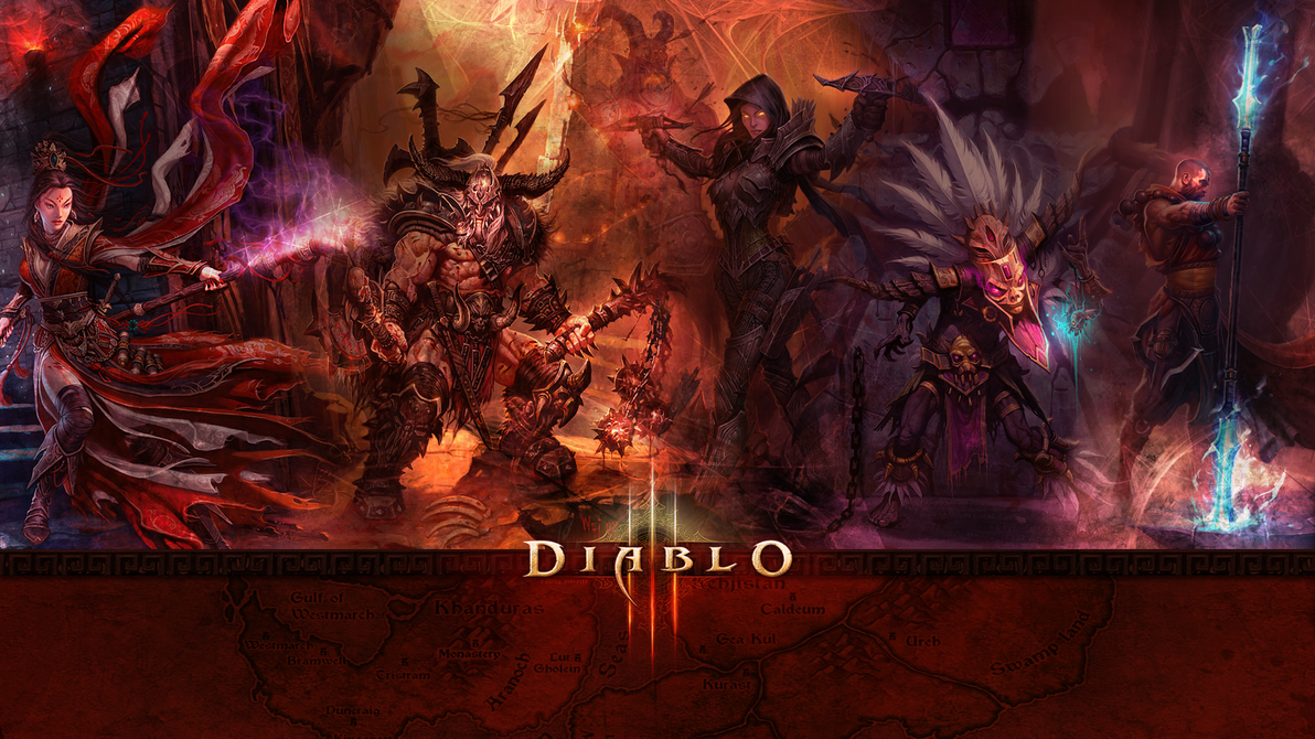 Diablo 3 Background by lovenotwarcraft