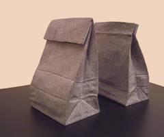 Paper sack bookend by jiyuseki