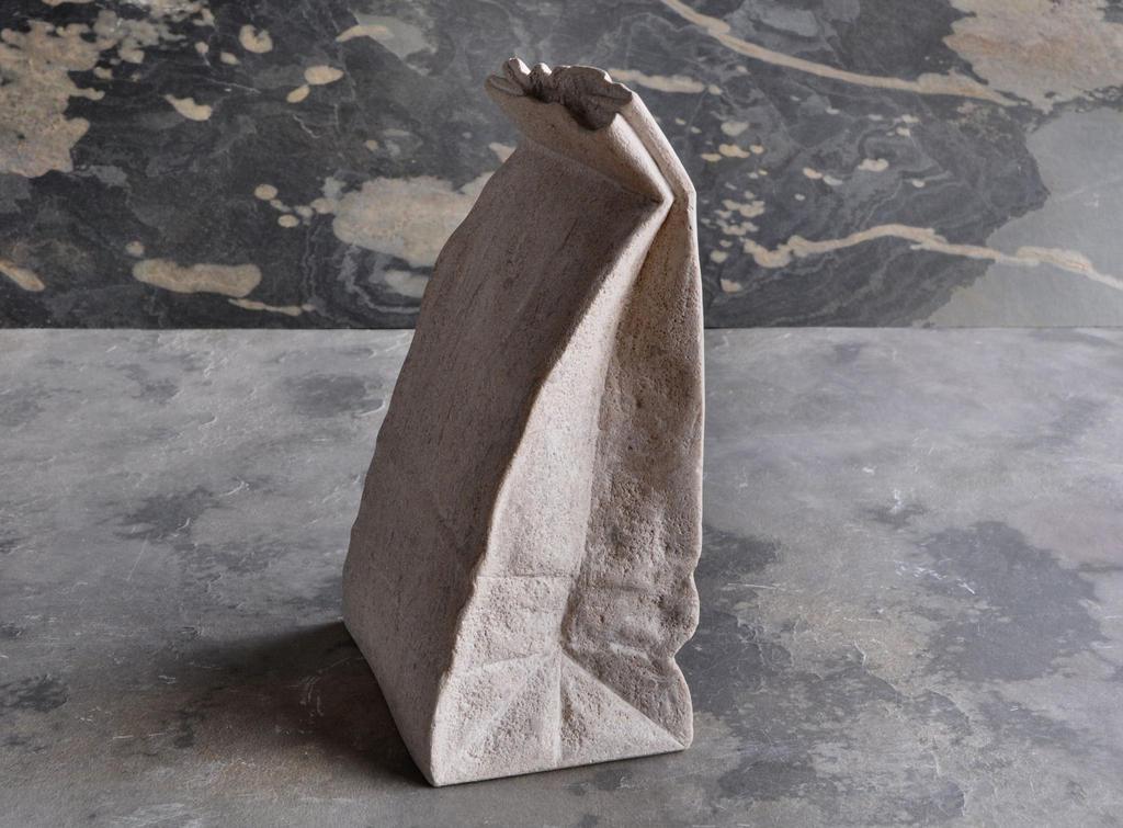 Paperbag( limestone) by jiyuseki