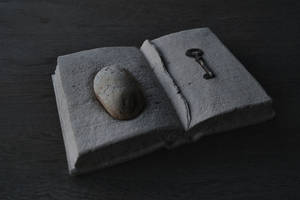 Old diary / torn pages (Limestone) by jiyuseki