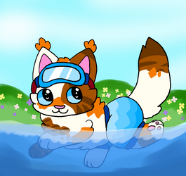 Keep On Swimming {Gift} by Distressed-Pigeon