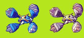 Mega Metagross sprite by Noscium
