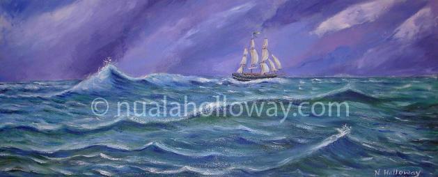 Stormy Seas - The Jeanie Johnston by NualaHolloway