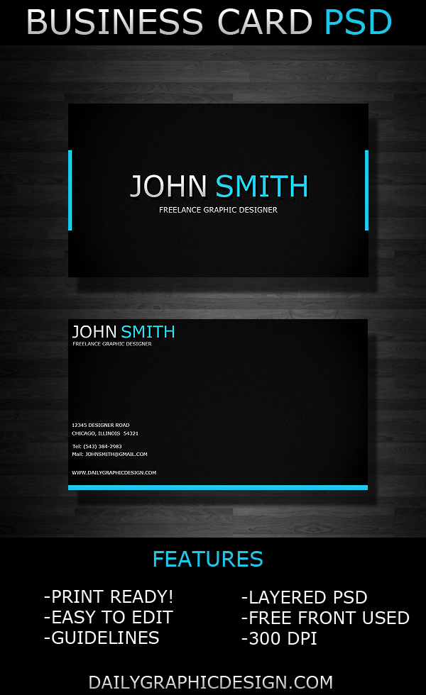 Business Card PSD by DailyGraphicDesign on DeviantArt