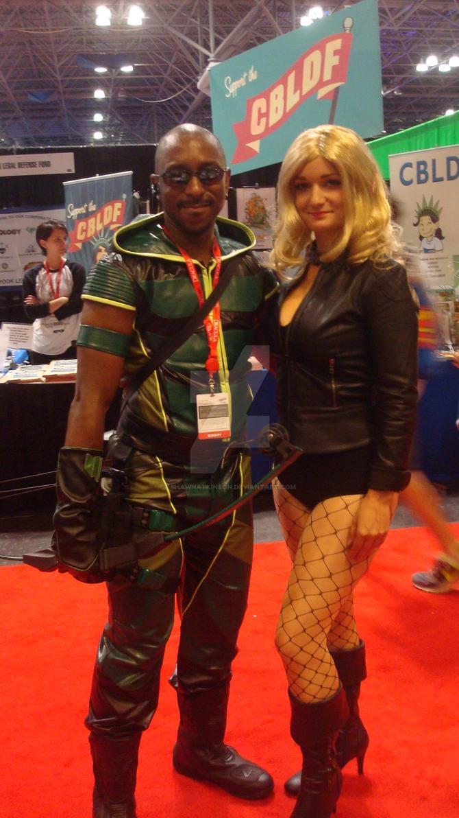 NYCC 2013- Green Arrow and Black Canary by ShawnAtkinson