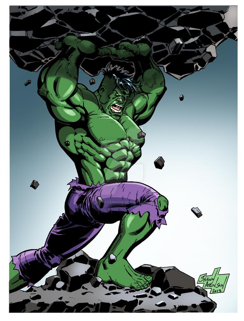 Incredible Hulk Color by ShawnAtkinson on DeviantArt