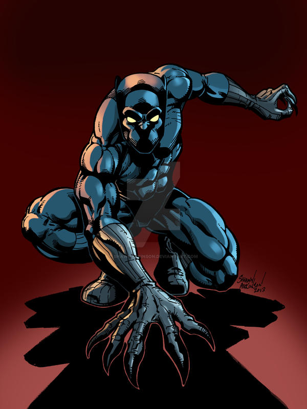 black panther color by shawnatkinson on deviantart