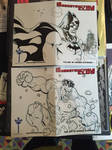 Sketch Covers: Batman and Hulk