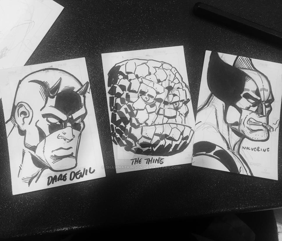 Quickie sketch cards by ShawnAtkinson