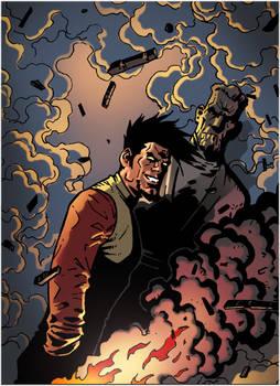 Colored Panel: BOMBSHELLS INC. #3 -Like Hell