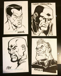 Four More Sketchcards by ShawnAtkinson