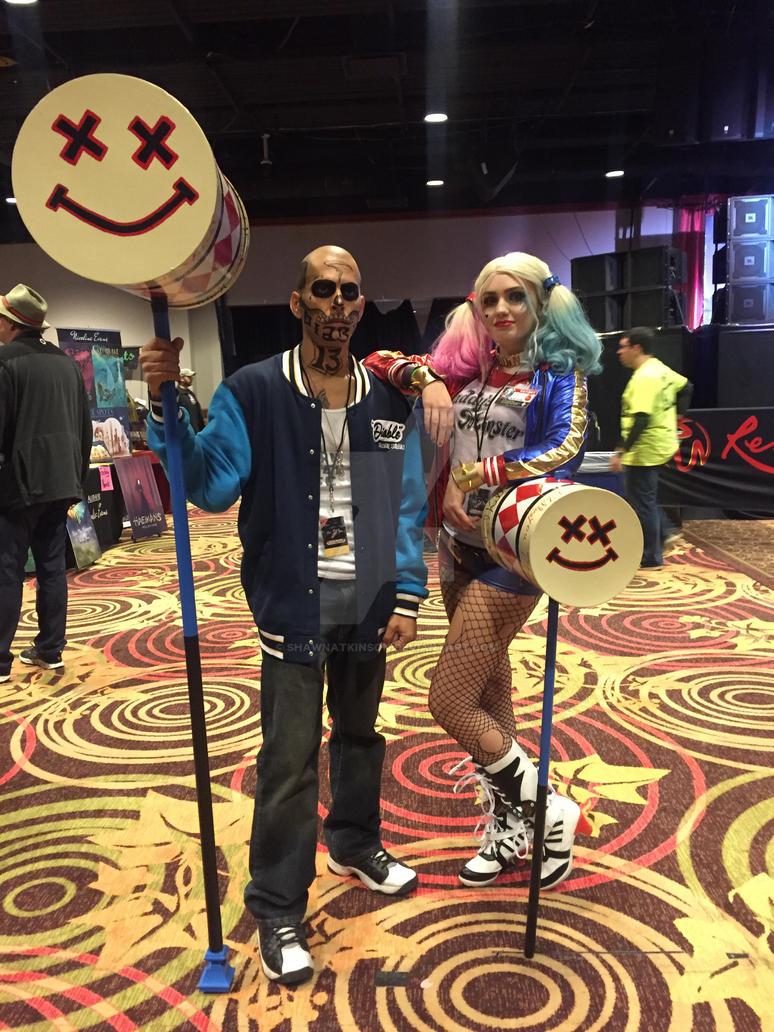 WinterCon 2016-El Diablo and Harley Quinn by ShawnAtkinson
