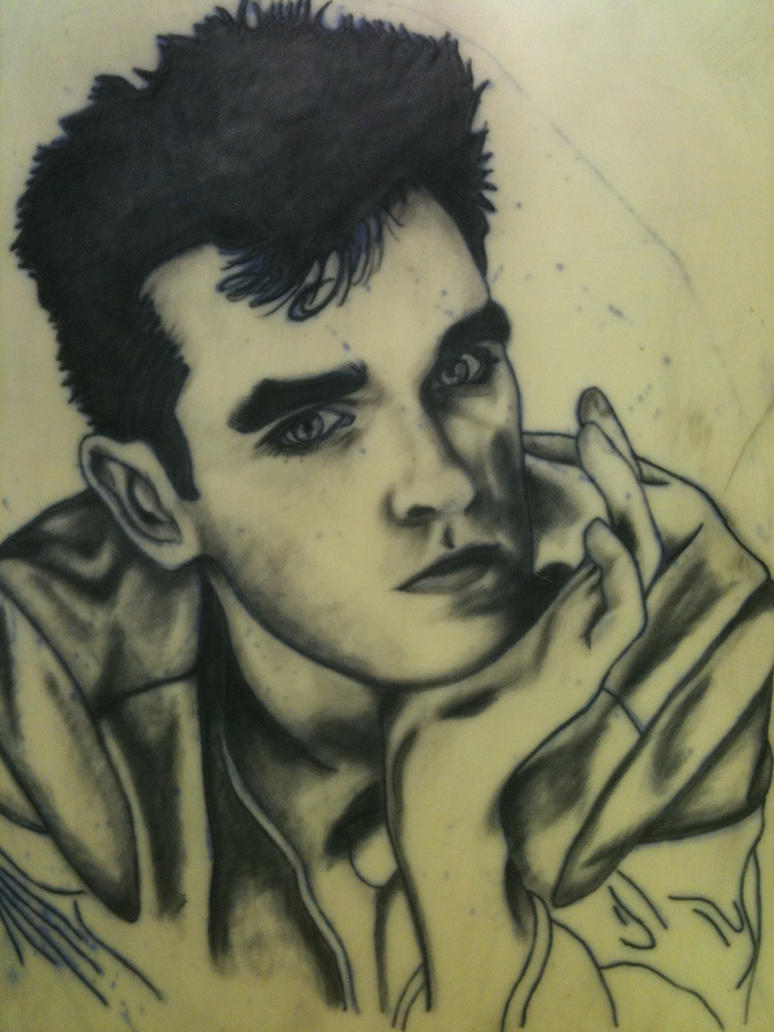 Morrissey tattoo WIP 2 by TheMediumHacker