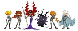 Negaverse and Queen Metalia by Cookiepoppet