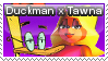 Duckman X Tawna Stamp (Reupload) by BlossomBright