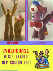 Cyberchase Digit Leboid MLP Custom Doll by BlossomBright