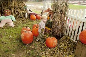 Aiden at the Pumpkin Farm