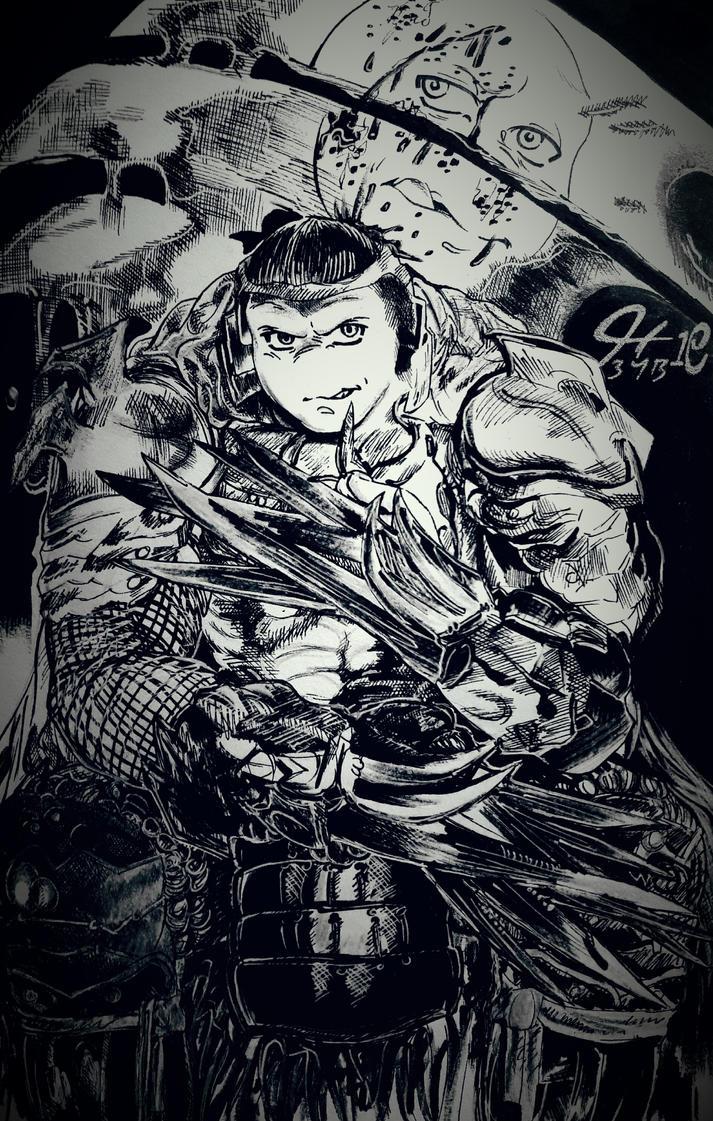 Shredder Raphael by BluuMaskedBandette10