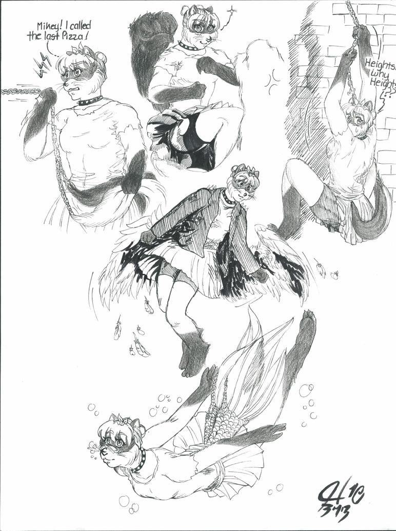 Bluu: Body and Tail Combat by BluuMaskedBandette10