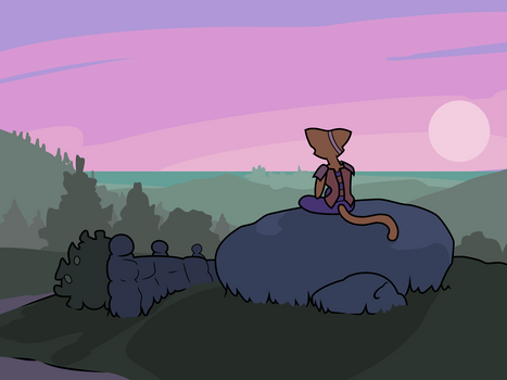 Katia watching the sunset - Prequel