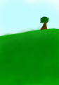 Tree In A Hilly Plain by Androgandor