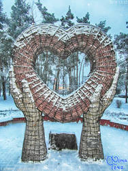 Ukrainian Art-Object in the form of big heart I by UAkimov09