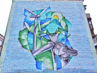 Mural about ''Windmils'' by Ukrainian Artists by UAkimov09