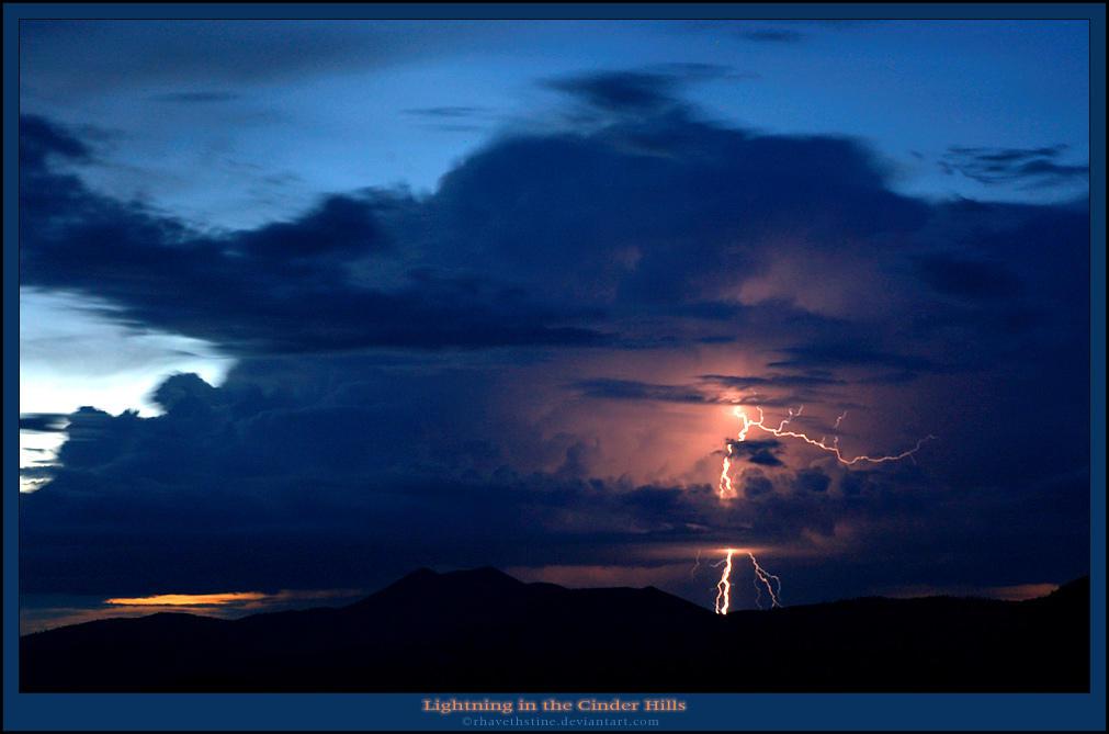 Lightning in the Cinder Hills by Rhavethstine