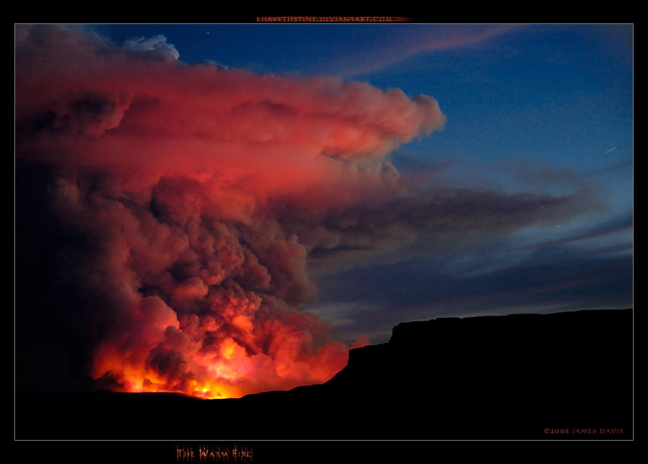 The Warm Fire by Rhavethstine