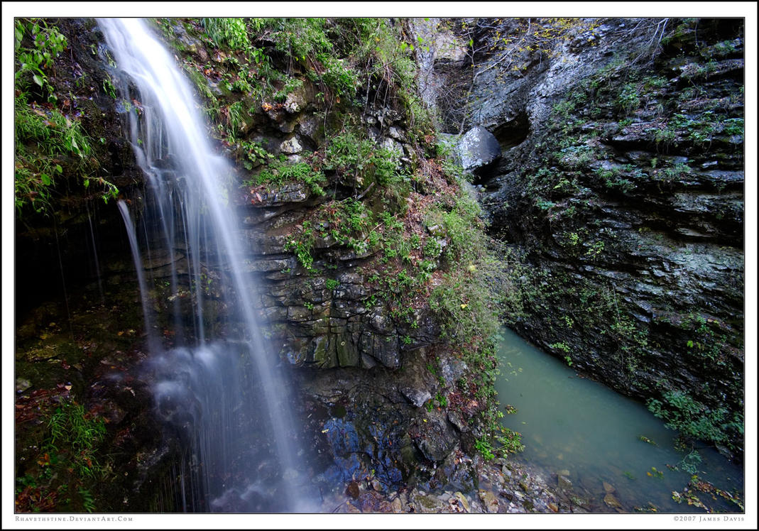 Arkansas Waterfall by Rhavethstine