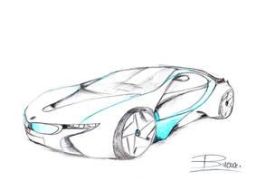 BMW concept car sketch by VladBucur