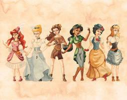 Series 1 Steampunk Disney Princesses by Sasha251125