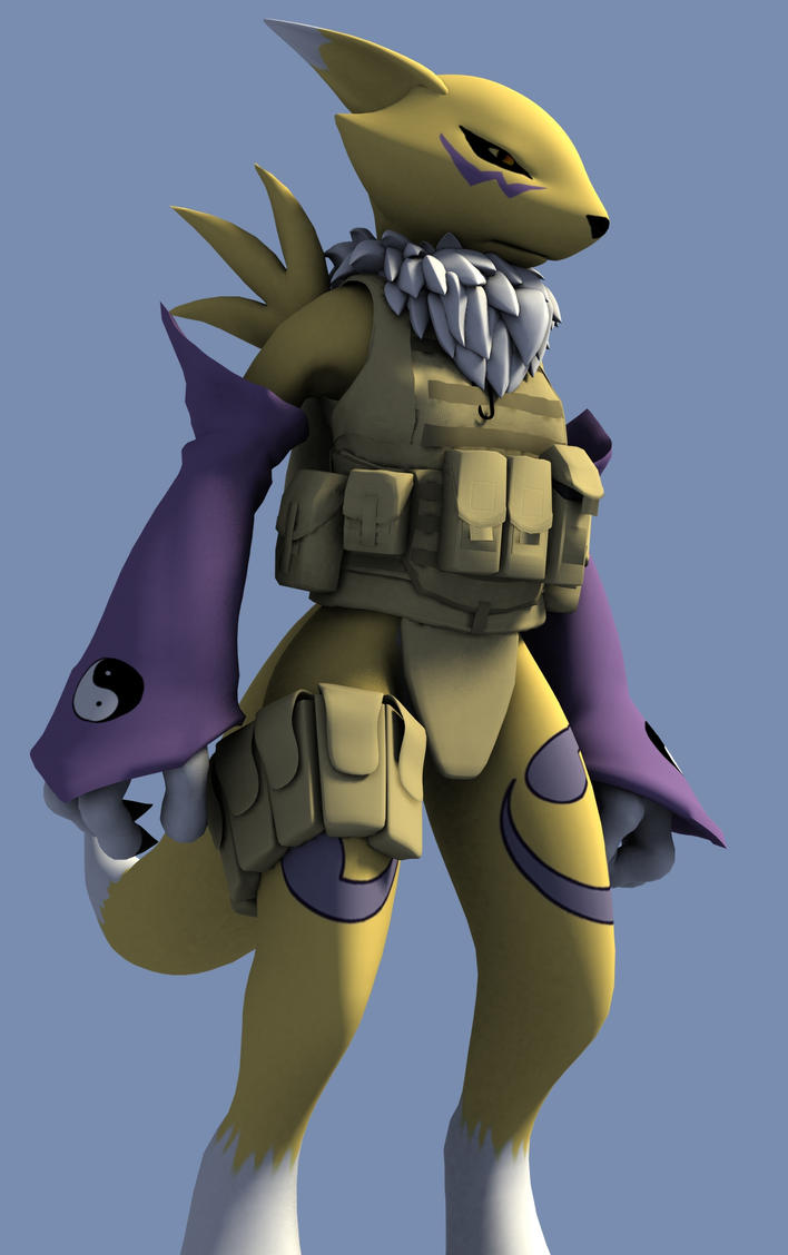 Gearhead Renamon (Update II) by POPTART117